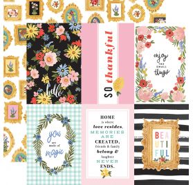 Papier double 30x30 'Carta Bella - Oh Happy Day' 4x6 Journaling Cards