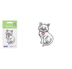Motif thermocollant  'BeaLena' chat assis