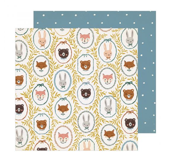 Papier double 30x30 'Crate Paper - Magical Forest' Critters