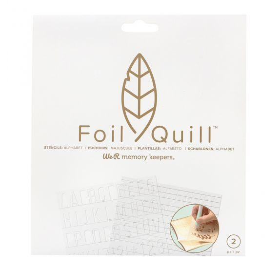 Lot de 2 pochoirs Foil Quill 'We R Memory Keepers' Alphabet