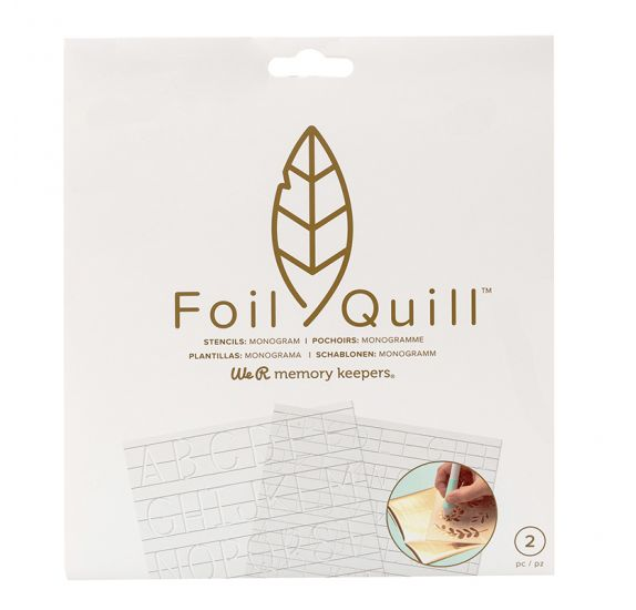 Lot de 2 pochoirs Foil Quill 'We R Memory Keepers' Monogramme