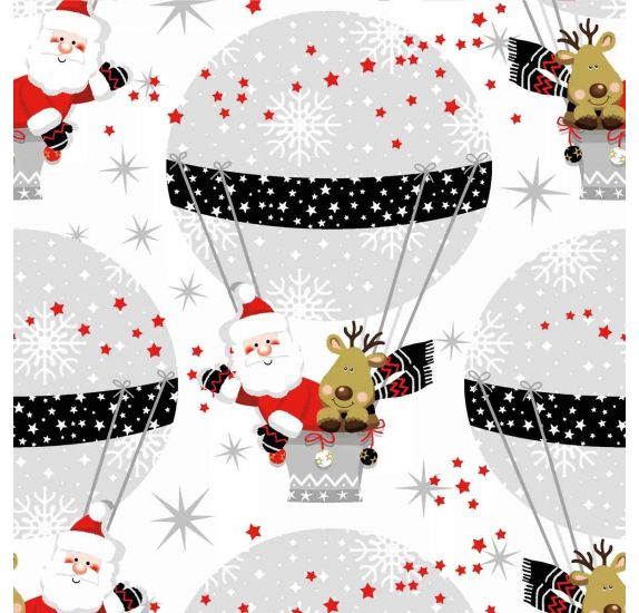 Lot de 20 serviettes 33 x 33 cm 'Nouveau' Winter Ballooning