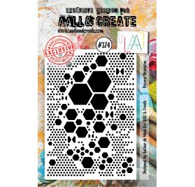 Tampon transparent 'AALL and Create' Reverse Hexagons