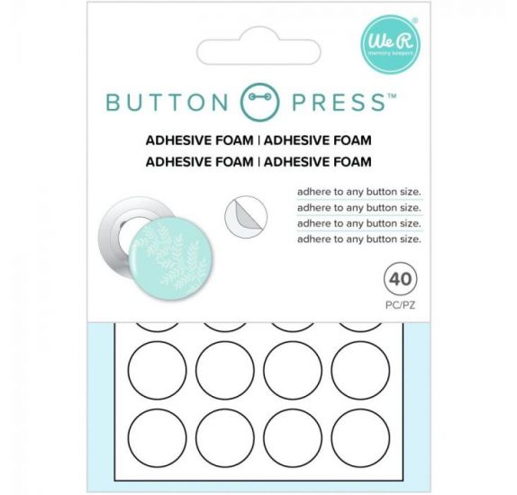 Lot de 60 ronds de mousse adhésive 'We R Memory Keepers - Button Press' 15 mm
