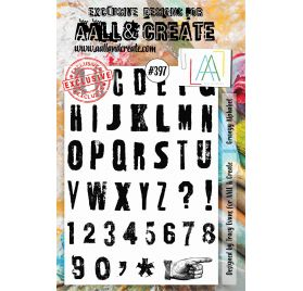 Tampons transparents 'AALL and Create' Grungy Alphabet 397