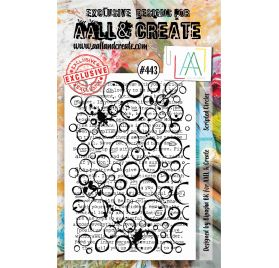 Tampon transparent 'AALL and Create' Scripted Circles 443