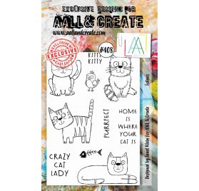 Tampons transparents 'AALL and Create' Felines 408