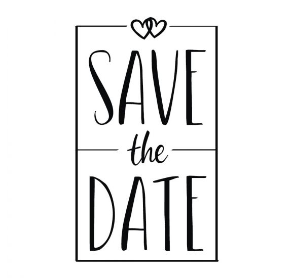Tampon bois 'Rayher' Save the date