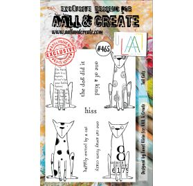 Tampons transparents 'AALL and Create' Tall Cats 465