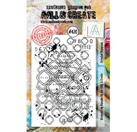 Tampon transparent 'AALL and Create' Scripted Diamonds 470