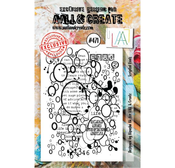 Tampon transparent 'AALL and Create' Scripted Ovals 471