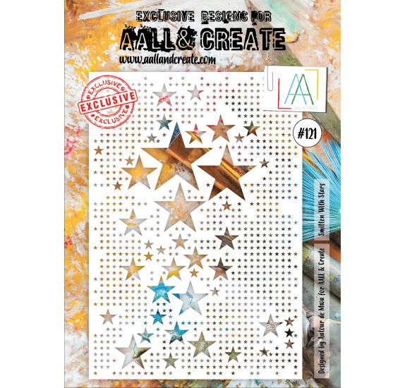 Pochoir A4 'AALL and Create' Smitten With Stars 121