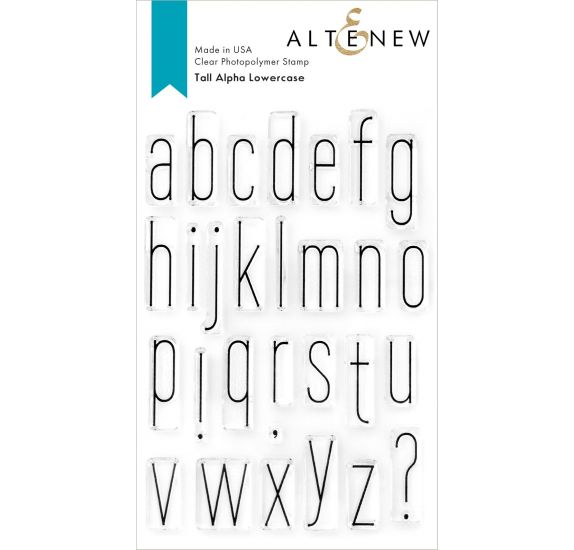 29 Tampons transparents 'Altenew' Tall Alpha Lowercase