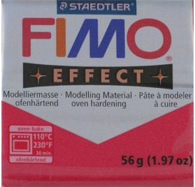 Pâte Fimo - Effect -  56g - Rouge Rubis