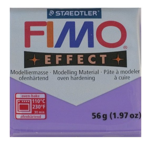 Pâte Fimo - Effect -  56g - Lilas transparent