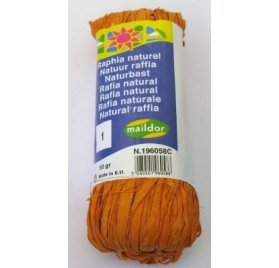 Raphia Naturel - Clairefontaine - Orange - 50g