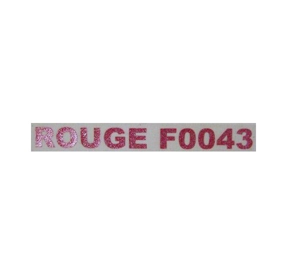 Flex glitter - Craft Robo - Rouge 21x24 cm