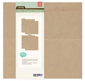 Album 20x20 Capture - Basic Grey - Kraft Ring Binder
