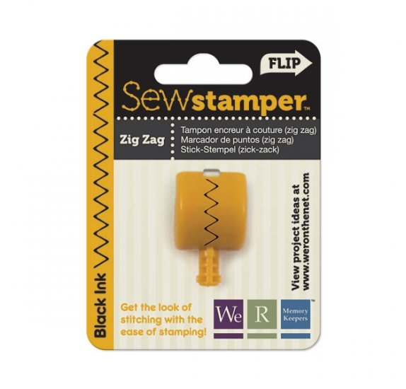 Tête Sew Stamper - We R Memory Keepers - Couture ZigZag